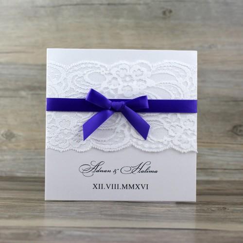 Half Fold Lace Invitation Card Wedding Card Customized Simple Style