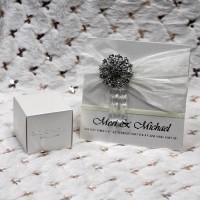 Silk Wedding Invitation Customized Decoration Wedding Supplies Invitation with Small Paper Box