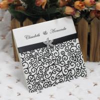 Half Fold Invitation Card Printing Customized Wedding Invites Reception Cards