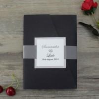 Black Wedding Invitation Customized Business Card Modern Invitation Card