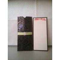 Black Foiling Invitation Card Pocket Wedding Card Greeting Card Customized