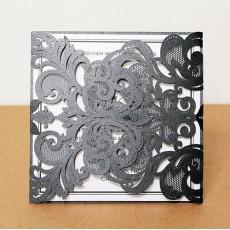 Unique Black Laser Cut Paper Wedding Invitations UK